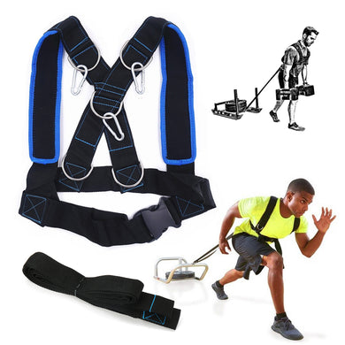 Outdoor Sports Fitness Sled Harness Strength Speed Training Strap