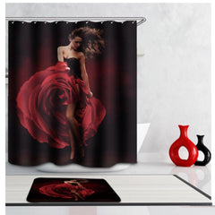 Waterproof Dance Girl Polyester Shower Curtain