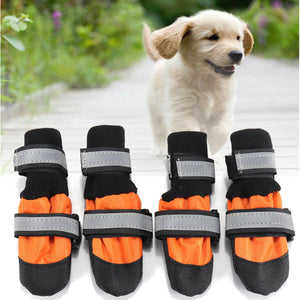4Pcs Pet Dog Rain Snow Boots