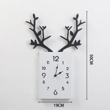 Load image into Gallery viewer, 50 x 35cm Simple Wooden Antler Wallclock