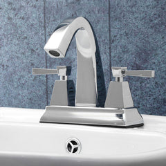 Luxury Chrome Polished Bathroom Sink Mixer Tap