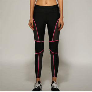 Fitness Trousers Honeycomb Mesh Fabric