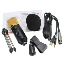 Load image into Gallery viewer, Audio Dynamic USB Condenser Mic With Stand Mount