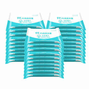 10pcs Disposable 75% Alcohol Cleaning Wet Wipes