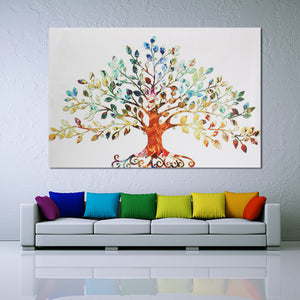 Leafy Tree Unframed Canvas Print Wall Art Home Decoration