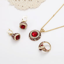 Load image into Gallery viewer, Luxury Red Crystal Jewelry Set