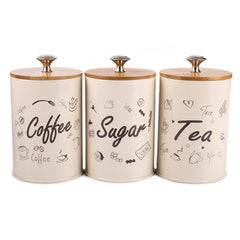 3pcs. Retro Tea Coffee Sugar Storage Jar
