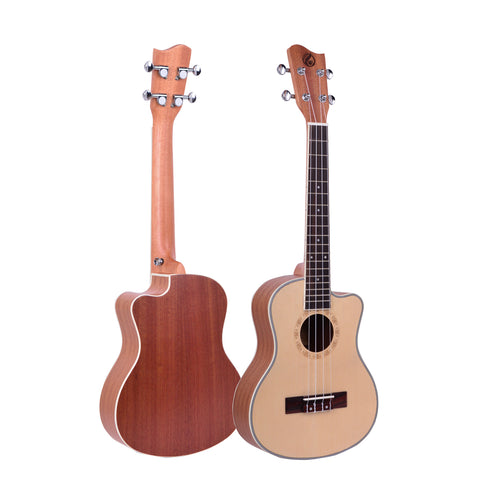"26"" Cutaway Spruce Wood Tenor Ukulele GUT-350C - Zalaxy"