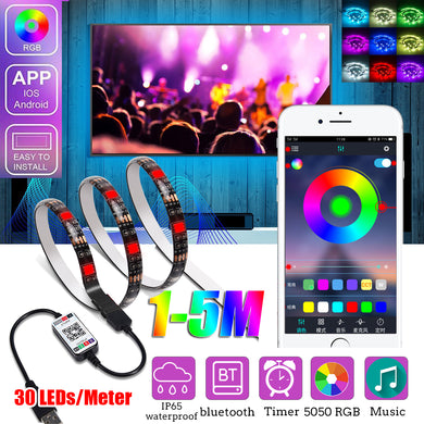 1M/2M/3M/4M/5M 5050 RGB bluetooth LED Strip Light APP Control