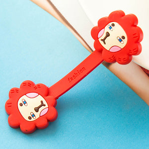 2Pcs Cable Earphome Cord Wrap Cartoon Organizer