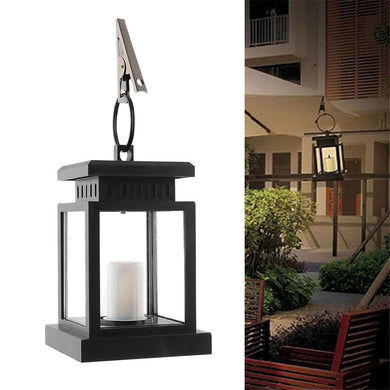 Solar Powered LED Candle Table Lantern Hanging Light
