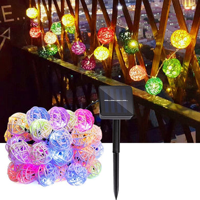 5M 20LEDs Multicolor Rattan Ball String Light