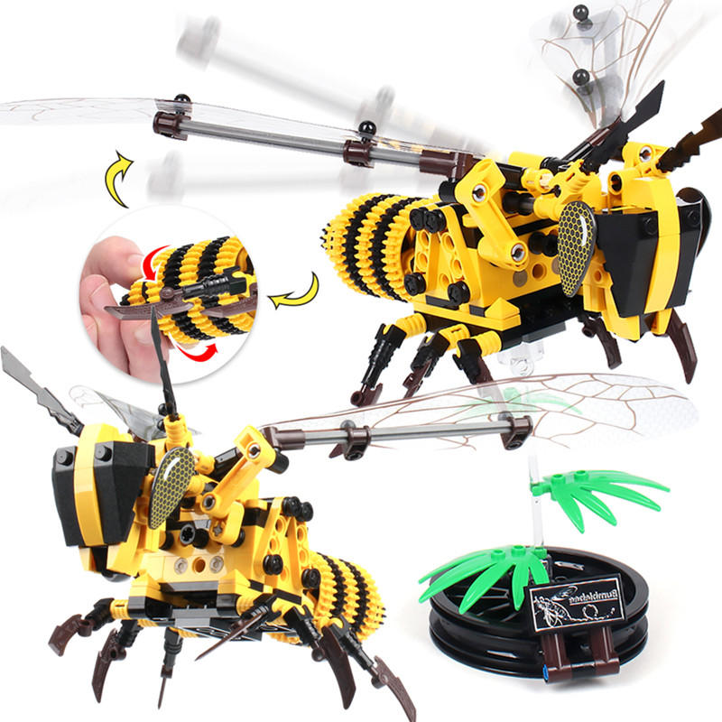 DIY Bumblebee Flying Insect Building Blocks Bricks Toy