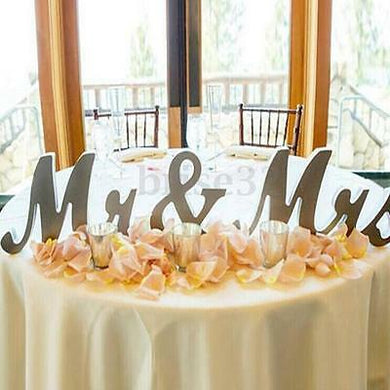 Mr&Mrs Shining Free Standing Letter Sign