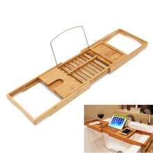 Load image into Gallery viewer, Bamboo Bath Shelf Bridge Tub Caddy Tray