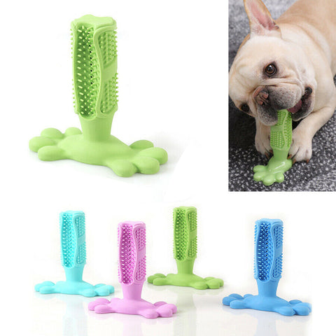 Dog Toothbrush Stick Pet Teeth Brushing Mouse Cleaning Chew Toy Oral Dental Care