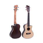 "26"" Cutaway Spruce Wood Tenor Ukulele GUT-500C - Zalaxy"
