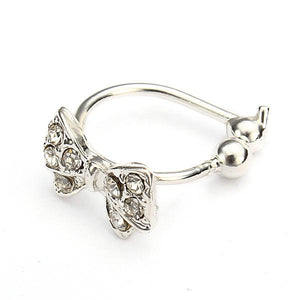 Crystal Bowknot Ear Cuff