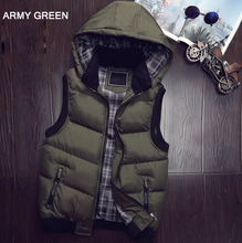 Load image into Gallery viewer, Hooded Vest Men Hat Detachable Warm Sleeveless Jackets - Zalaxy