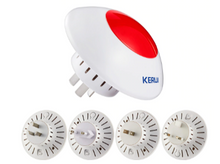 Load image into Gallery viewer, Loud Indoor Siren Wireless Flashing Siren Alarm Horn Red Light - Zalaxy