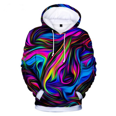Men's Colourful Flashbacks 3D Hoodies