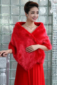 Warm Faux Fur Stoles Wedding Wrap