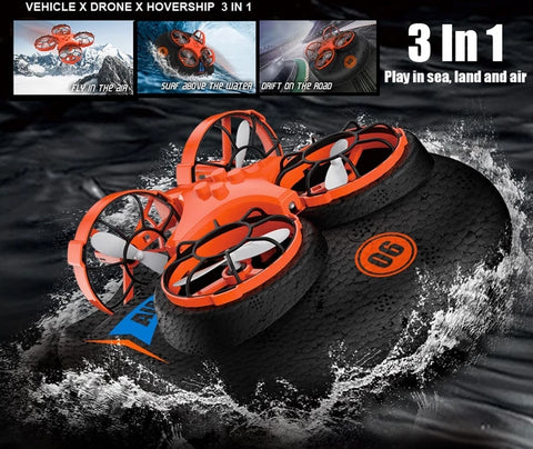 Flying Air Boat Land Driving Mode RC Quad-copter