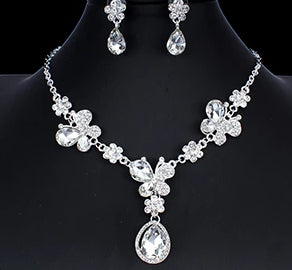 Elegant Floral Bridal Jewelry Set