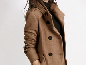 Women Winter Double Breasted Overcoat
