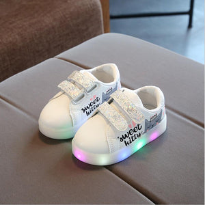 Kids Breathable Led Luminous Sports Shoes