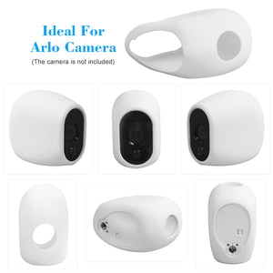 1/3 Packs Silicone Case for Arlo Cameras Security Weatherproof Protective Case,White - Zalaxy