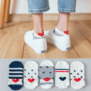 5 Pairs Cotton Women Socks - Zalaxy