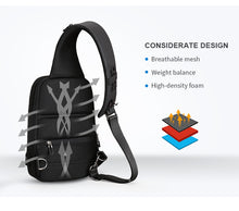 Load image into Gallery viewer, Anti-thief Crossbody Waterproof Men Sling Chest Bag - Zalaxy