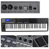 Portable 61-Key USB MIDI Keyboard Controller