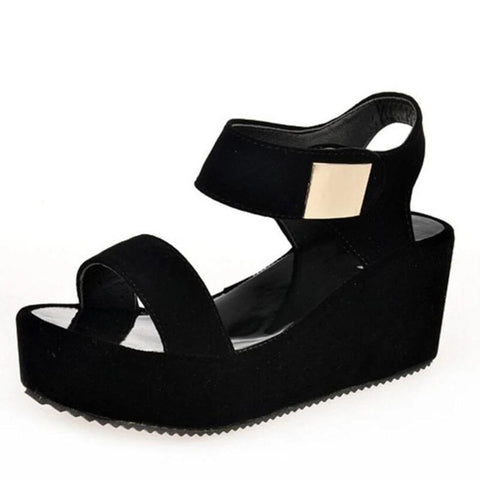 Peep Toe Chunky Wedge