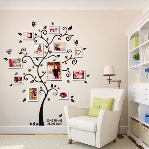 3D DIY Removable Photo Tree PVC Wall Decals - Zalaxy