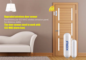 Wireless Window Door Magnet Sensor Detector Portable Alarm System