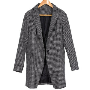 Women's Elegant Winter Wool Long Overcoat C17 - Zalaxy