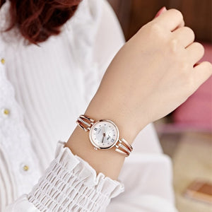 Rhinestone Watches Women Luxury Brand Stainless Steel Bracelet
