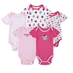 5 Pieces/lot Newborn Baby Romper - Zalaxy
