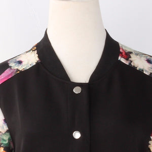 Women Jacket Brand Tops Flower Print