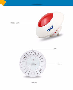 Loud Indoor Siren Wireless Flashing Siren Alarm Horn Red Light - Zalaxy
