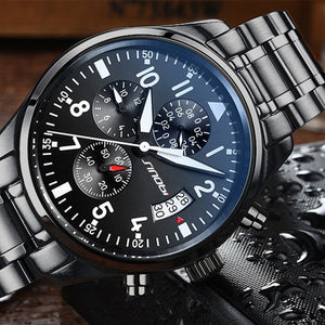 Pilot Mens Chronograph Wrist Watch
