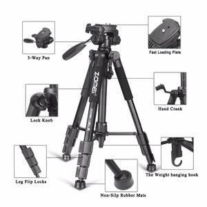 Professional Portable Aluminium Travel Tripod