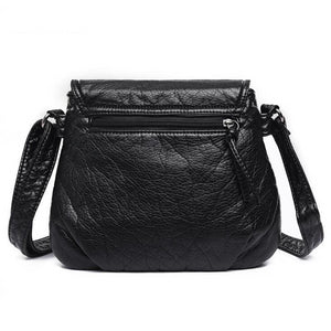 Crossbody Soft PU Leather Shoulder Bag - Zalaxy