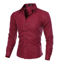 Load image into Gallery viewer, Men's Long Sleeve Casual Shirt - Zalaxy