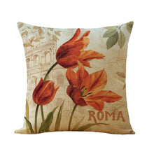 Load image into Gallery viewer, Flower Printing Cushion Cover