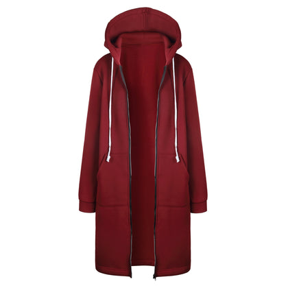 Women's Long Hooded Jacket C04 - Zalaxy