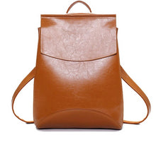 Load image into Gallery viewer, Women's Pu Leather Leisure Backpack
