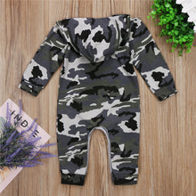 Load image into Gallery viewer, Infant Baby Boy Hooded Camouflage Romper - Zalaxy